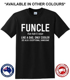 b96fccd7a Uncle T Shirt Australia - Funcle Uncle Like A Dad Only Cooler Funny Gift  Present New