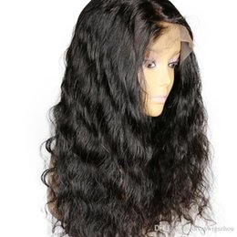 New wave loNg hair online shopping - New loose Wave lace frontal Wig glueless Brazilian Remy Lace Front Human Hair Wigs With Baby Hair Pre Plucked Knots density