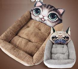 $enCountryForm.capitalKeyWord Australia - Pets Kennels Short Plush 3D Cartoon Animal Nest Pet Nest Small Cat Dog Mattress Pet Kennel Cat Sleeping Pad Houses