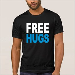 $enCountryForm.capitalKeyWord Australia - Brand La Maxpa Create A Custom Famous Free Hugs T Shirts Funky Super T-Shirt Mens 2018 Cotton Simple Male Tee Shirt Cheap