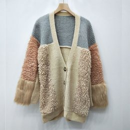 7bb451bbd Goods In Stock Real Time Lazy Wind Sweater Woman Cardigan Knitting 2018 New  Pattern Candy Color Easy Fresh Sweet Loose Coat