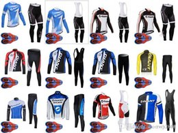 New Men's GIANT team Cycling long Sleeves jersey (bib) pants sets 9D gel Pads Spring and autumn Mtb Bicycle Clothes classic D1729 from saxo cycling manufacturers