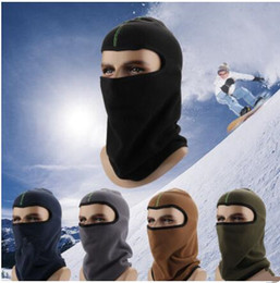 TacTical haTs online shopping - Winter Barakra Hat Thicker masks Warm Hat Fleece Cycling Caps motorcycle Skiing Sport Windproof cap Tactical mask MMA1094