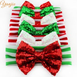 diy christmas hair bows 2018 6 pcs lot chic christmas festival kids girl 5 - Diy Christmas Bows