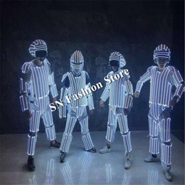 $enCountryForm.capitalKeyWord Canada - L100 Mens robot lighting costumes ballroom luminous led clothes glowing lighted stage wears helmet party bar dj show performance disco dress