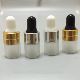 Wholesale Frosted Glass Dropper Bottle ml ml ml Mini Glass Bottle Essential Oil Display Vial Small Serum Perfume Sample container