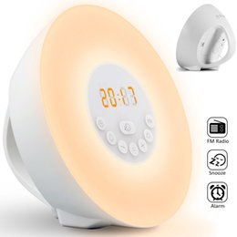 $enCountryForm.capitalKeyWord UK - Alarm Clock Wake-Up Light 7 Colors Night Light Radio Alarm Clocks for Kids and Bedrooms LED Display Touch Control Sunrise Alarm Clock