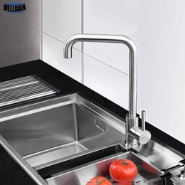 Quality kitchen taps online shopping - Perfect quality stainless steel rotatable kitchen faucet single hole deck mounted brushed sink tap kitchen mixer