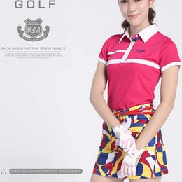 ladies golf clothes 2019 - Pgm Brand Lady Elasticity Golf Skirt Summer Women Leisure Print Short Skirts Breathable Golf Sports Shirts Clothing AA60