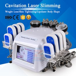 Discount remove cellulite machine - Strong Effect Cavitaton Laser Slimming Weight Loss Body Shaping lipolaser Fat Burning Vacuum Cellulite Remove RF Skin Ti