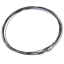 black steel wire necklace 2019 - MJARTORIA 10PCs Black Steel Wire Magnetic Clasp Choker Necklace 2017 Hot Sale Necklace For Women Jewelry Making DIY Whol