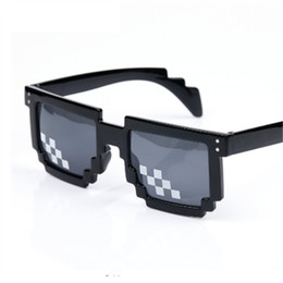 wholesale pixel sunglasses 2019 - Men Women Party Eyewear Deal With It Glasses 8 bits Mosaic Pixel Male Female Sunglasses Dealwithit thug life Popular che