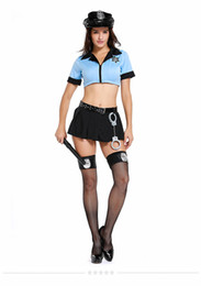 police woman costume shorts 2019 - Sexy Cop Officer Costume Ladies Policewomen Cosplay Uniform Police Women Fancy Dress Outfit for girls PS071 cheap police