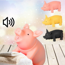 $enCountryForm.capitalKeyWord Canada - 50PCS 9cm Pet Toys Chew Squeaker Rubber Dog Toys For large Dogs Pet Supplies Sound Pig