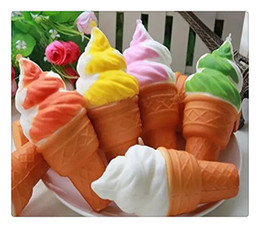 Ice Cream Plants NZ - Wholesale Cute Jumbo Rare Squishy Ice Cream Phone Straps Soft Squishy Slow Rising Squeeze Squishies Toys For Cell Phone Kids Toy Random