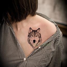 ba4e46a2c3989 Waterproof Temporary Tattoo Sticker Animal Wolf Lion Eagle Tatto Flash  Tatoo Hand Wrist Foot Arm Neck Fake Tattoo For Men Women