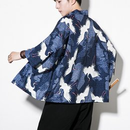 Chinese  New Chinese style men's sunscreen clothes retro cardigan embroidery long windbreaker thin coat manufacturers