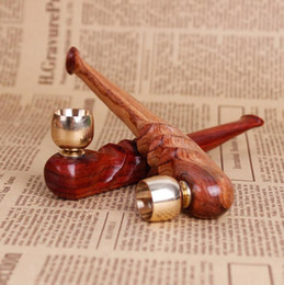 Wood Water Pipes Australia - New products dual-use water wave Polish red acid branch, yellow pear, pipe, cigarette holder, solid wood, dry tobacco stem.