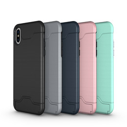 $enCountryForm.capitalKeyWord NZ - hot mobile cell phone cases Luxury holder Kickstand Shockproof hard Wallet protect cover Brushed Card case for iphone x