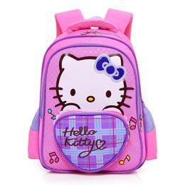 0ef696641 Cartoon hello kitty Schoolbag cute backpack Children School Bags for Girls  Mini Kids Book bags Kindergarten cat Satchel Mochila