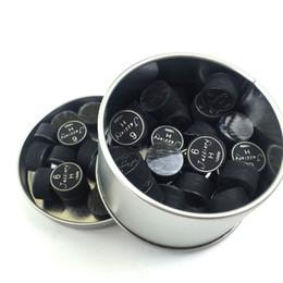 10pcs 14mm Billard Pool Queue Tips Schwarz 6 Schichten mit transparentem Kissen in S / M / H Qualität für Spiel Cue Sticks