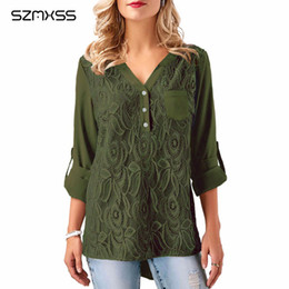6de4e5f32f4 2018 Spring Plus Size Tunic Embroidery Chiffon Blouses Women Lace Tops Long  Sleeve XXXL Large Sizes OL Ladies Top Shirts female