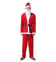 Santa Claus Suits UK - Christmas Santa Claus suit Costume Adult Set Brand New and High Quality