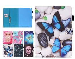 ipad mini case butterfly 2019 - Butterfly owl PU Leather Stand Wallet Flip Card Slots Covers Case for New Ipad 2017 2018 Pro 9.7 234 Air Air2 mini 123 M