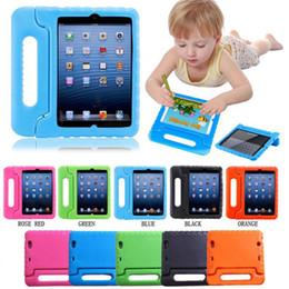 Discount eva foam ipad mini case - Multifunction Kids Safe Soft EVA Light Foam Weight Shock Proof Handle Protective Case With Stand For iPad 2 3  Ipad Air