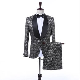 2018 New Suits Men Groomsmen Wedding formal dress Banquet Two-piece Suit Fit Slim The Host Sets Stage Costumes ! S-5XL
