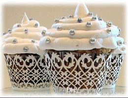 $enCountryForm.capitalKeyWord NZ - New Arrival Laser Cut Cupcake Wrapper Cake Liners Decorating Boxes Cup Tools For Wedding Baby Shower Favor Supplies