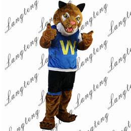$enCountryForm.capitalKeyWord Australia - 2018 New high quality Sporty tiger in blue vest Mascot costumes for adults circus christmas Halloween Outfit Fancy Dress Suit Free Shipping
