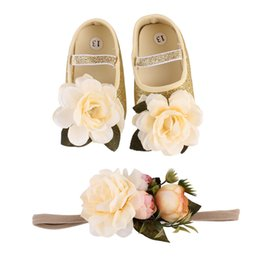 Girl Feet Shoes NZ - Baby Shoes Anklet Flower Leglet Infant Sweet Firstwalkers Newborn Photograph Props Fashion Girls Feet Bangle