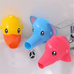 Faucet bathroom wall sink online shopping - Baby Wash Hands Auxiliary Device Cartoon Elephant Duck Children Faucet Extender Animal Modelling Bathroom Sink Faucets bs Ww