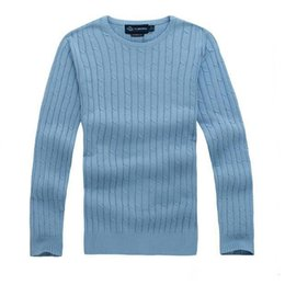 $enCountryForm.capitalKeyWord UK - New High Quality Men's Twisted Needle Sweater Knitted Cotton Round neck Polo Sweater Pullover Sweater