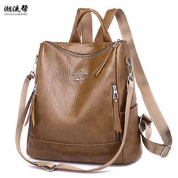 $enCountryForm.capitalKeyWord NZ - 2018 Leather Backpack Women Vintage Backpack For Woman Zipper High Quality School Shoulder Bag For Youth Feminina Black
