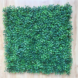 Wholesale 50x50cm Artificial Grass plastic boxwood mat topiary tree Milan Grassfor garden,home ,wedding decoration Artificial Plants