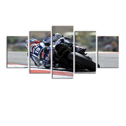 $enCountryForm.capitalKeyWord Australia - 5 pieces high-definition print motorcycle canvas oil painting poster and wall art living room picture C5-43