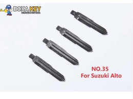 $enCountryForm.capitalKeyWord NZ - (10pcs) NO.35 Metal Blank Uncut Flip KD Remote Key Blade Type 35 for Suzuki Alto