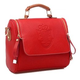 $enCountryForm.capitalKeyWord NZ - Satchel Shoulder Bags Fashion Women Handbag Vintage Stamping Shield Camera bags 2017 new Messenger cross body bag red