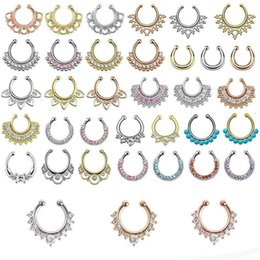 10pcs Mixed Style Non-Piercing Septum Hangers Nose Rings Wholesale Lot