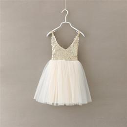 Wedding Dress Cyan NZ - 2018 Infant Baby Girls Sequined Dress Kids Wedding Party Dresses Dance Costumes Children Clothing 5Pcs lot Drop Shiping