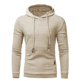 China Hoodies Men 2018 Brand Male Long Sleeve Solid Color Lattice Hooded Sweatshirt Mens Hoodie Tracksuit Sweat Coat Casual Sportswear Man Clothes supplier short slim coat men suppliers