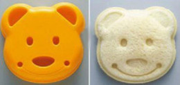RubbeR ball beaRings online shopping - Hot Home Garden DIY Cartoon Bear Design Sandwich Cutter Bread Biscuits Embossed Device Cake Tools Rice Balls Lunch DIY Mould Tool