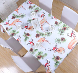 RectangulaR table cloth coveR online shopping - Christmas Series Tablecloth New Year Thicken Rectangular Table Cover Xmas Tableware Dining Kitchen Table Cloth Multi Sizes