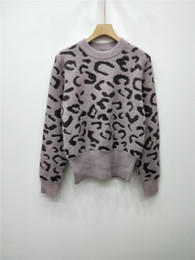Stock Clothes Winter Australia - Women Sweater Clothing Good Quality Leopard Print Sleeve Head Imitation Mink Female Winter New Product Fashion In Stock