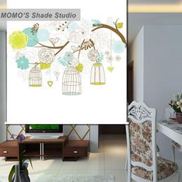 $enCountryForm.capitalKeyWord Canada - MOMO Roller Blinds Painting Window Blinds Shades Blackout Zebra Fabric Roller Shutter Curtains Custom Size Alice 195