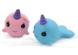 blue whale toy 2019 - Kawaii Funny Whale Squishy Toy Whale Anti-stress Toys for Boy Girl Kid Adult Gift Cream Scented Whale Slow Rising Toy ch