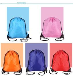 $enCountryForm.capitalKeyWord Canada - Drawstring Portable Polyester Sports Bag Thicken Belt Riding Backpack Gym Drawstring Waterproof Shoes Bag Clothes Backpacks mk0461