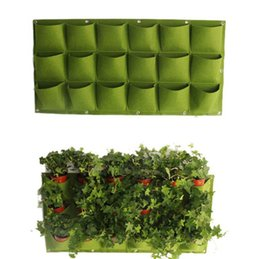 Hang grow online shopping - 18 Pocket Flower Pots Planter On Wall Hanging Vertical Felt Gardening Plant Decor Green Field Grow Container Bags OOA4733
